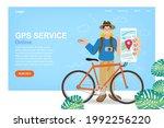 man search gps navigation. bike ...   Shutterstock .eps vector #1992256220
