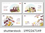 set of web pages for healthy... | Shutterstock .eps vector #1992267149