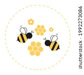 Bee Cartoons And Honeycomb...