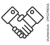 business handshake  contract... | Shutterstock .eps vector #1992298016