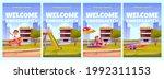 welcome to kindergarten ad...   Shutterstock .eps vector #1992311153