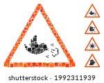 mosaic bird influenza warning...   Shutterstock .eps vector #1992311939