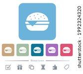 single cheeseburger white flat... | Shutterstock .eps vector #1992324320