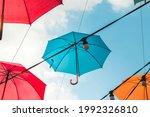 Colorful Umbrellas In The Sky....