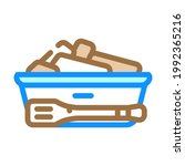 bread basket with tongs in... | Shutterstock .eps vector #1992365216