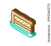 cake dish canteen isometric... | Shutterstock .eps vector #1992365273