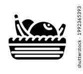 fruit basket in canteen glyph... | Shutterstock .eps vector #1992365393