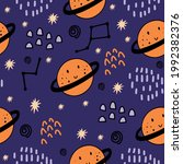 seamless pattern with cute...   Shutterstock .eps vector #1992382376