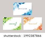 colorful watercolor splash...   Shutterstock .eps vector #1992387866