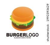 burger vector logo. vector... | Shutterstock .eps vector #1992393629