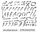 arrows vector hand drawn icon...   Shutterstock .eps vector #1992402950