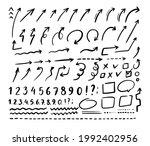 arrows vector hand drawn icon...   Shutterstock .eps vector #1992402956