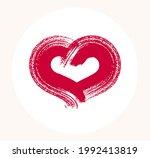 hand drawn hearts vector logo...   Shutterstock .eps vector #1992413819
