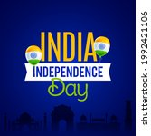 independence day in india...   Shutterstock .eps vector #1992421106