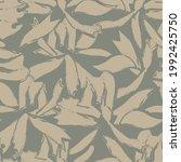 green floral brush strokes...   Shutterstock .eps vector #1992425750