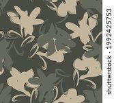 green floral brush strokes...   Shutterstock .eps vector #1992425753