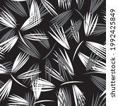 black and white floral brush...   Shutterstock .eps vector #1992425849
