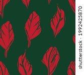 christmas floral brush strokes...   Shutterstock .eps vector #1992425870