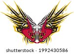 red heart with grunge wings for ... | Shutterstock .eps vector #1992430586