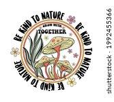 70's retro groovy slogan print... | Shutterstock .eps vector #1992455366