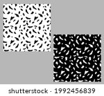 set of black and white textures ...   Shutterstock .eps vector #1992456839