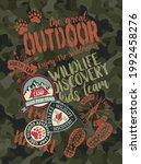 great outdoor wildlife... | Shutterstock .eps vector #1992458276