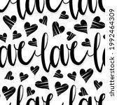 word love black hand drawn...   Shutterstock .eps vector #1992464309