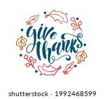 vector illustration with leaves....   Shutterstock .eps vector #1992468599