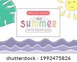 summer sale banner template...   Shutterstock .eps vector #1992475826