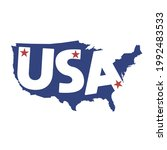 united states of america map...   Shutterstock .eps vector #1992483533