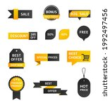 vector stickers  price tag ...   Shutterstock .eps vector #1992497456
