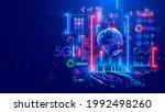 5g internet communications... | Shutterstock .eps vector #1992498260
