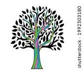 abstract tree with artistic... | Shutterstock .eps vector #1992503180