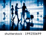 motion business traveler at... | Shutterstock . vector #199250699