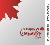 happy canada day. july 1...   Shutterstock .eps vector #1992509060