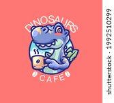elements dinosaurs cartoon logo ... | Shutterstock .eps vector #1992510299