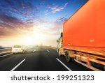 motion trucks on the freeway. | Shutterstock . vector #199251323