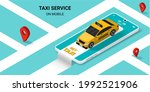 taxi online service on mobile...   Shutterstock .eps vector #1992521906