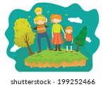family character drawing | Shutterstock .eps vector #199252466
