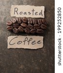 coffee crop beans with text... | Shutterstock . vector #199252850