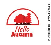 hello autumn  with tree...   Shutterstock .eps vector #1992533666