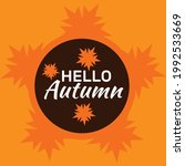 hello autumn vector...   Shutterstock .eps vector #1992533669