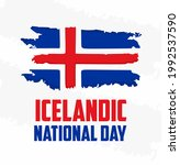 icelandic national day writing...   Shutterstock .eps vector #1992537590
