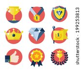 awards icons set. | Shutterstock .eps vector #199253813