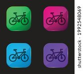 bicycle four color glass button ... | Shutterstock .eps vector #1992548069