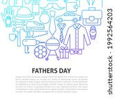 fathers day line concept.... | Shutterstock .eps vector #1992564203