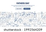 fathers day banner design.... | Shutterstock .eps vector #1992564209