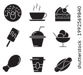 fast food icon. fast food set... | Shutterstock .eps vector #1992569840