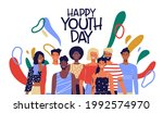 happy youth day greeting card... | Shutterstock .eps vector #1992574970