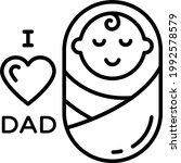 baby with love concept vector...   Shutterstock .eps vector #1992578579